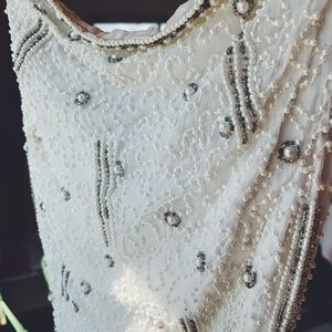 VINTAGE • beaded gown